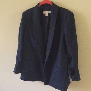Michael Kors Navy Blue Linen Blazer